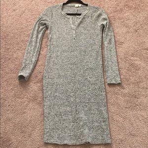 Gap maternity sm s grey Henley dress long sleeve